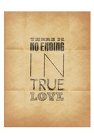 "True Love 2  (Beige Background) by Jace Grey - 13"" x 19"""