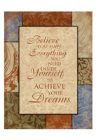 Achieve Your Dreams Fine Art Print