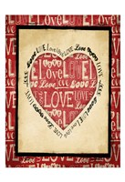 "Love 1 by Jace Grey - 13"" x 19"""