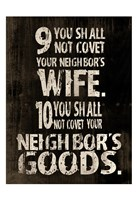 10 Commandments (9 & 10) Fine Art Print