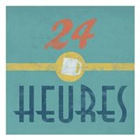 24 Heures Coffee Fine Art Print