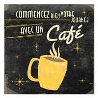Coffee French I Framed Print