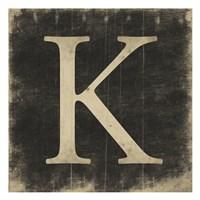 """K (Black Background) by Jace Grey - 13"""" x 13"""", FulcrumGallery.com brand"""