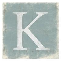 "K (Grey Background) by Jace Grey - 13"" x 13"", FulcrumGallery.com brand"