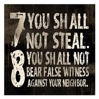 "10 Commandments (7 & 8) by Jace Grey - 13"" x 13"" - $12.99"