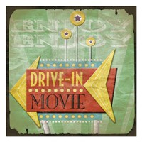 "Drive In by Jace Grey - 13"" x 13"""