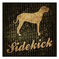"Sidekick (black background) by Jace Grey - 13"" x 13"""