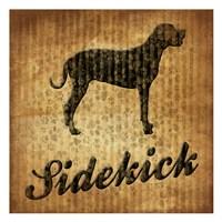 "Sidekick (brown background) by Jace Grey - 13"" x 13"""