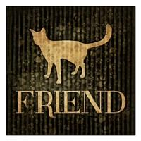 "Friend (black background) by Jace Grey - 13"" x 13"", FulcrumGallery.com brand"