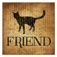 """Friend (brown background) by Jace Grey - 13"""" x 13"""", FulcrumGallery.com brand"""
