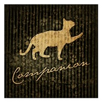 "Companion (black background) by Jace Grey - 13"" x 13"", FulcrumGallery.com brand"