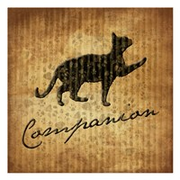 """Companion (brown background) by Jace Grey - 13"""" x 13"""", FulcrumGallery.com brand"""