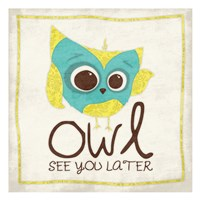 """Owl See 2 by Jace Grey - 13"""" x 13"""", FulcrumGallery.com brand"""