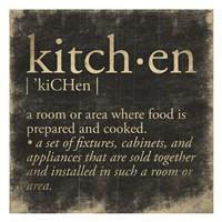 Kitchen Definition Fine Art Print