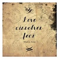 "Love Dissolves Fear 1 by Jace Grey - 13"" x 13"", FulcrumGallery.com brand"