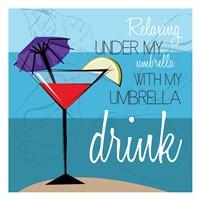"Beach Umbrella by Jace Grey - 13"" x 13"""