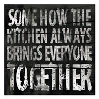 """Kitchen 2 (Black Background) by Jace Grey - 13"""" x 13"""""""