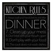 "kitchen Rules 2 by Jace Grey - 13"" x 13"""