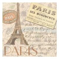 "Paris by Linda Grayson - 13"" x 13"""
