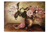 Magnolia with Roses I Framed Print