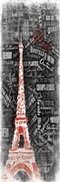 "Eiffel Red by OnRei - 13"" x 19"""
