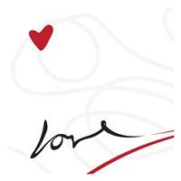 "Love 2 by OnRei - 13"" x 13"", FulcrumGallery.com brand"