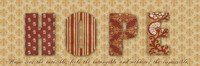 "Hope 1 by Taylor Greene - 18"" x 6"", FulcrumGallery.com brand"
