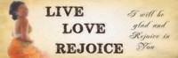 "Rejoice by Taylor Greene - 18"" x 6"""