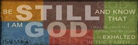 "Be Still 2 by Taylor Greene - 18"" x 6"", FulcrumGallery.com brand"