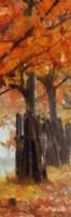 Amber Trail Panel I Framed Print