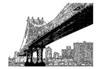"""Skyline Sketch by Taylor Greene - 19"""" x 13"""""""