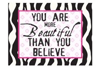 "More Beautiful Zebra by Taylor Greene - 19"" x 13"""