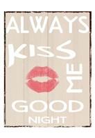 Always Kiss Framed Print
