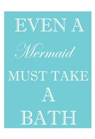 Mermaid Must Bathe Framed Print