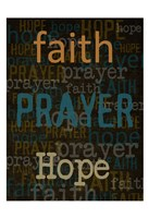 Faith Prayer Hope Fine Art Print