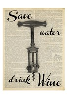 Save Water Framed Print