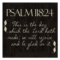 Psalm 118-24 Fine Art Print