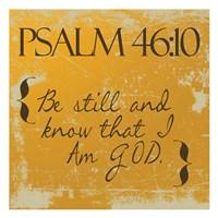 Psalms 46-10 Orange Framed Print