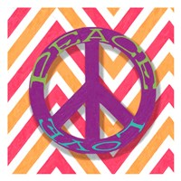 "Chevron Peace by Taylor Greene - 13"" x 13"""