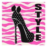 Style Zebra Framed Print