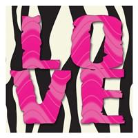 Love Patterns Framed Print
