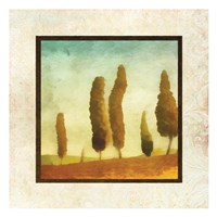 """Damask Landscape I by Taylor Greene - 13"""" x 13"""""""