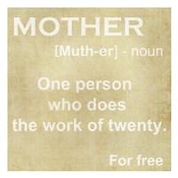 Mother Definition Fine Art Print