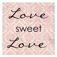 "Love Sweet Love by Taylor Greene - 13"" x 13"", FulcrumGallery.com brand"