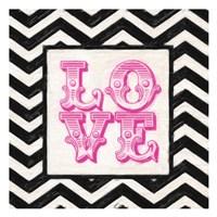 Cevron Love Pink Framed Print