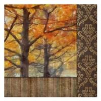 Amber Damask Tree II Framed Print