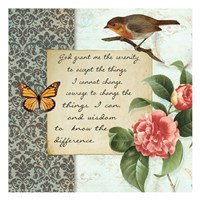 Vintage Serenity Prayer Fine Art Print