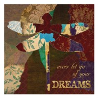 "Dreams Dragonfly by Taylor Greene - 13"" x 13"""