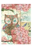 """Owl A by Elizabeth Jordan - 13"""" x 19"""""""