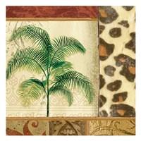 "Leapord Palm by Elizabeth Jordan - 13"" x 13"""